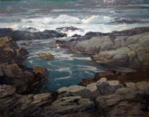 Image of Moonlit Pool, (Rocky Tide Pool) California Coast