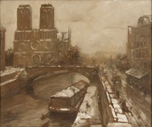Image of Notre Dame in Winter